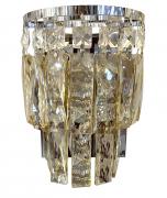 Arandela de Cristal Legítimo K9  Champagne - (6058 CG)