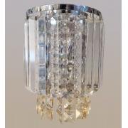Arandela de Cristal Legítimo K9 Champanhe com Transparente (5040-CG)