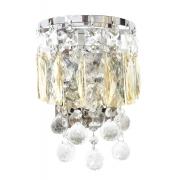 Arandela de Cristal Legítimo K9 Champanhe com Transparente (5042-CG)