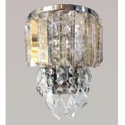 Arandela de Cristal Legítimo K9 Champanhe com Transparente (5049-CG)
