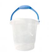 Balde de 8 Litros Transparente C/Alça Azul Bebê