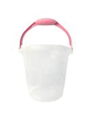 Balde de 8 Litros Transparente C/Alça Rosa Bebê