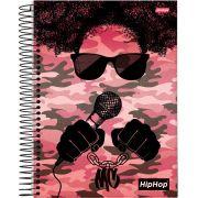 Caderno Universitário Hip hop 20 Matérias c/400fls.