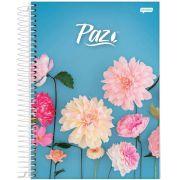 Caderno Universitário Paz 12 Matérias c/240fls.