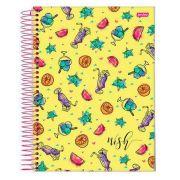 Caderno Universitário Wish 10 Matérias  c/200fls.