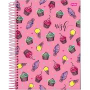 Caderno Universitário Wish 15 Matérias c/300fls.
