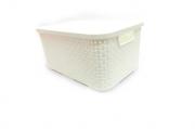 Caixa Plástica Organizadora Rattan- Kit Com 2 Tamanhos