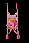Carrinho de Passeio para Boneca Pequeno - Wellmix