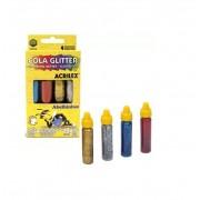 Cola Glitter 4 Cores de  15g - Acrilex