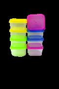 Conjunto de Potes Quadrado Colorido 8 unidades - Dubai