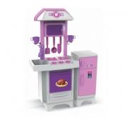 Cozinha Infantil Completa Rosa Sem Água - Magic Toys