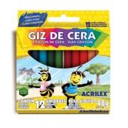 Giz de Cera 12 Cores 48g - Acrilex