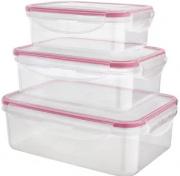 Kit 3 Potes Herméticos Plástico - 1500ml - 800ml -500 ml