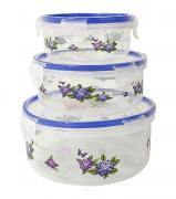 Kit C/3 Potes Herméticos de Plástico  - Dubai