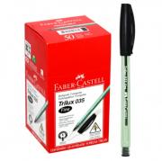 Kit com 50 Canetas Pretas Faber-Castell (Trilux 035 Fine)