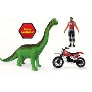 KIT Dinossauro Moto e Boneco - Hefer