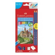 KIT Escolar Lápis de Cor EcoLápis Apontar e Borracha - Faber-Castell