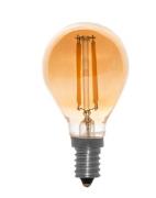 Lâmpada Bulbo De Led Âmbar Bocal E14 4w / 2400W Filamento