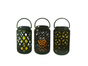 Lanterna Decorativa  Com Vela de Led  18 cm