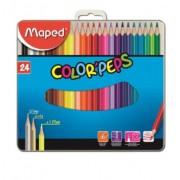 Lápis de Cor 24 Cores Color Peps Metal - Maped