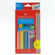 Lápis de Cor Ecolápis 12 cores +2 Lápis Grafite