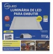 Luminaria Led embutir quadrado 24w 3000k branco quente- MB LED