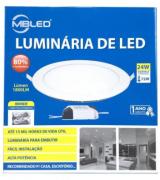 Luminaria Led Sobrepor redondo 24w 3000k branco quente- MB LED