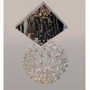 Lustre de Cristal Legítimo K9 Conhaque C/ Lâmpadas (3501/350 C)