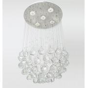 Lustre De Cristal Legítimo K9 Transparente C/ Lâmpadas 4028/400T