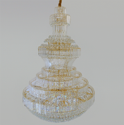 Lustre De Cristal Legítimo K9 Gold Imperial Pé Direito Alto (13099/1500GD) Pé Direito Alto