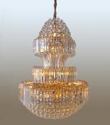 Lustre de Cristal Legítimo K9 Gold Imperial (13818/800-GD) Pé Direito Alto
