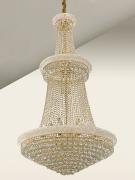 Lustre De Cristal Legítimo k9 Imperial Gold Pé direito alto (7002/850)