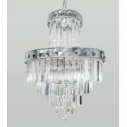 Lustre De Cristal Legítimo K9 Imperial Prata A89644/400 CH