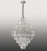 Lustre De Cristal Legítimo K9 Imperial Prata (5080/500 CH)