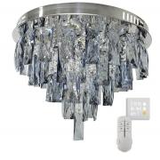Lustre Plafon de Cristal Legítimo K9 Lâmpadas inclusas / 3 Tons / Azul Turquesa