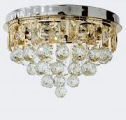 Lustre Plafon de Cristal Legítimo K9 Lâmpadas de LED Inclusas (A6902/400-GD)
