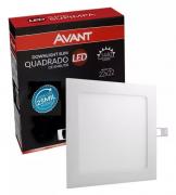 Painel Plafon LED de Embutir Quadrado 18w - Luz Amarela 3000K