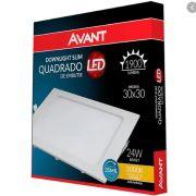 Painel LED de Embutir 30 x 30 cm 24W - Luz Amarela 3000K