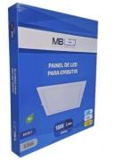 Painel Led embutir quadrado 18w 3000k branco quente- MB LED