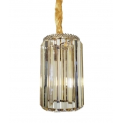 Pendente De Cristal Legítimo K9 Âmbar/Gold C201-GD