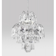 Pendente de Cristal Legítimo K9 Transparente C/ Lâmpadas Inclusas