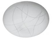 Plafon Redondo 37x10cm 24w Plástico Branco 356 Dubai