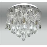 Plafon De Cristal Legítimo K9 Transparente Com Lâmpadas de LEDs inclusas