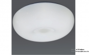 Plafon Redondo 37x10cm 24w Plástico Branco -Dubai