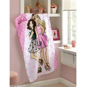 Toalha de Banho Infantil Felpudo - Barbie