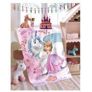 Toalha de Banho Infantil Felpudo - Princesa Sofia