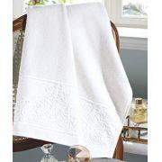 Toalha de Banho Jacquard Confort 70cmx140m (FJ-6512 Branco) Dohler