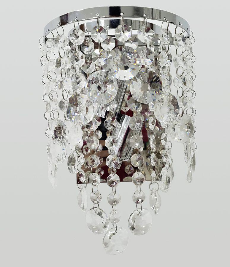 Arandela de Cristal Legítimo K9 Transparente (5036T-CH)