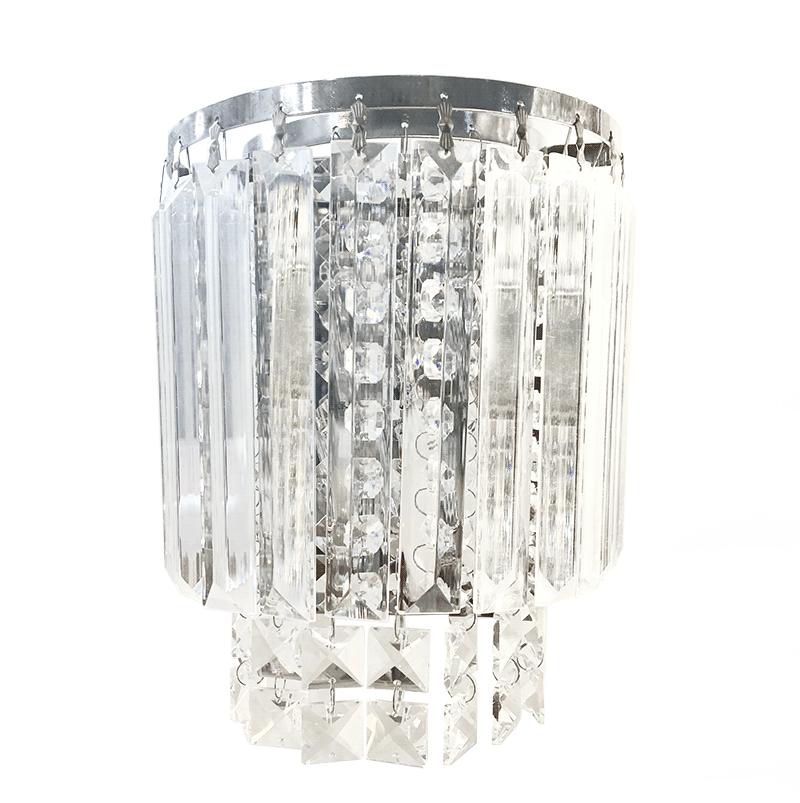 Arandela de Cristal Legítimo K9  Transparente- (5040T-CH)