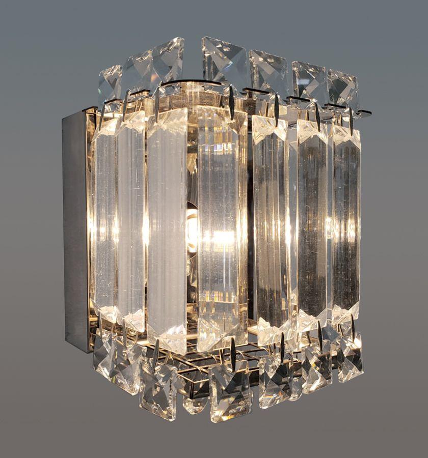 Arandela De Cristal Legítimo K9 Transparente (5701T-CH)